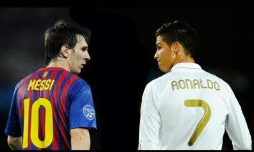 Ronaldo và Messi chạy liên tục