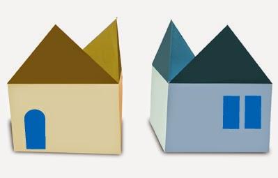 Hướng dẫn cách gấp ngôi nhà hai mặt tiền bằng giấy đơn giản - Xếp hình Origami với Video clip - How to make a house