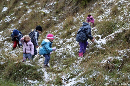 Who cares about the cold.... Whether you were three years old or 77, Te Mata Peak was the place to enjoy the snow. photograph