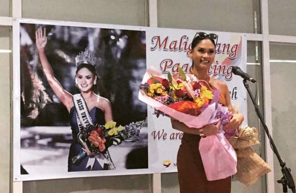 Miss Universe 2015 Pia Wurtzbach arrives in Manila for grand homecoming.
