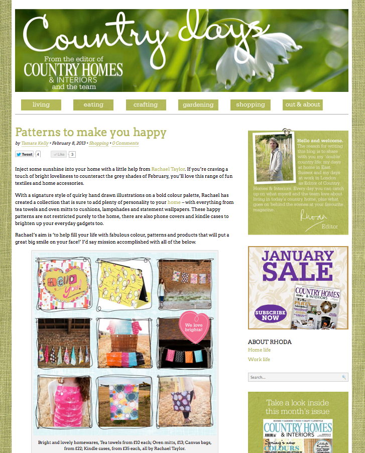 Country Homes Interiors Feature Rachael Taylor Blog