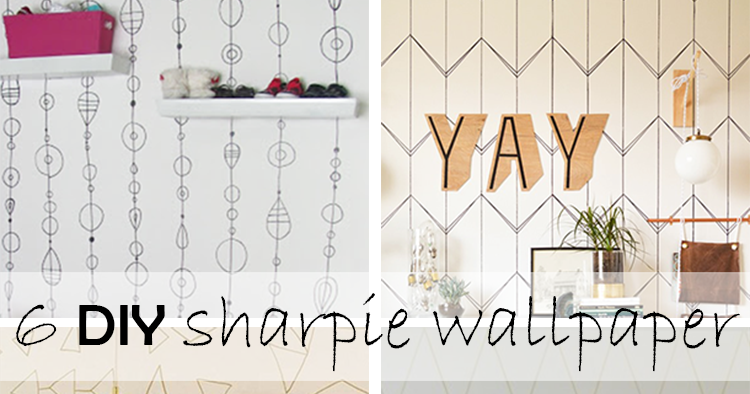 DIY Monday  Sharpie Wallpaper Ohoh Blog Diy And Crafts