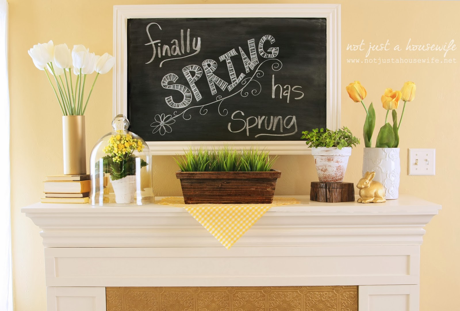 Spring Mantle ideas for Blog with the Browns