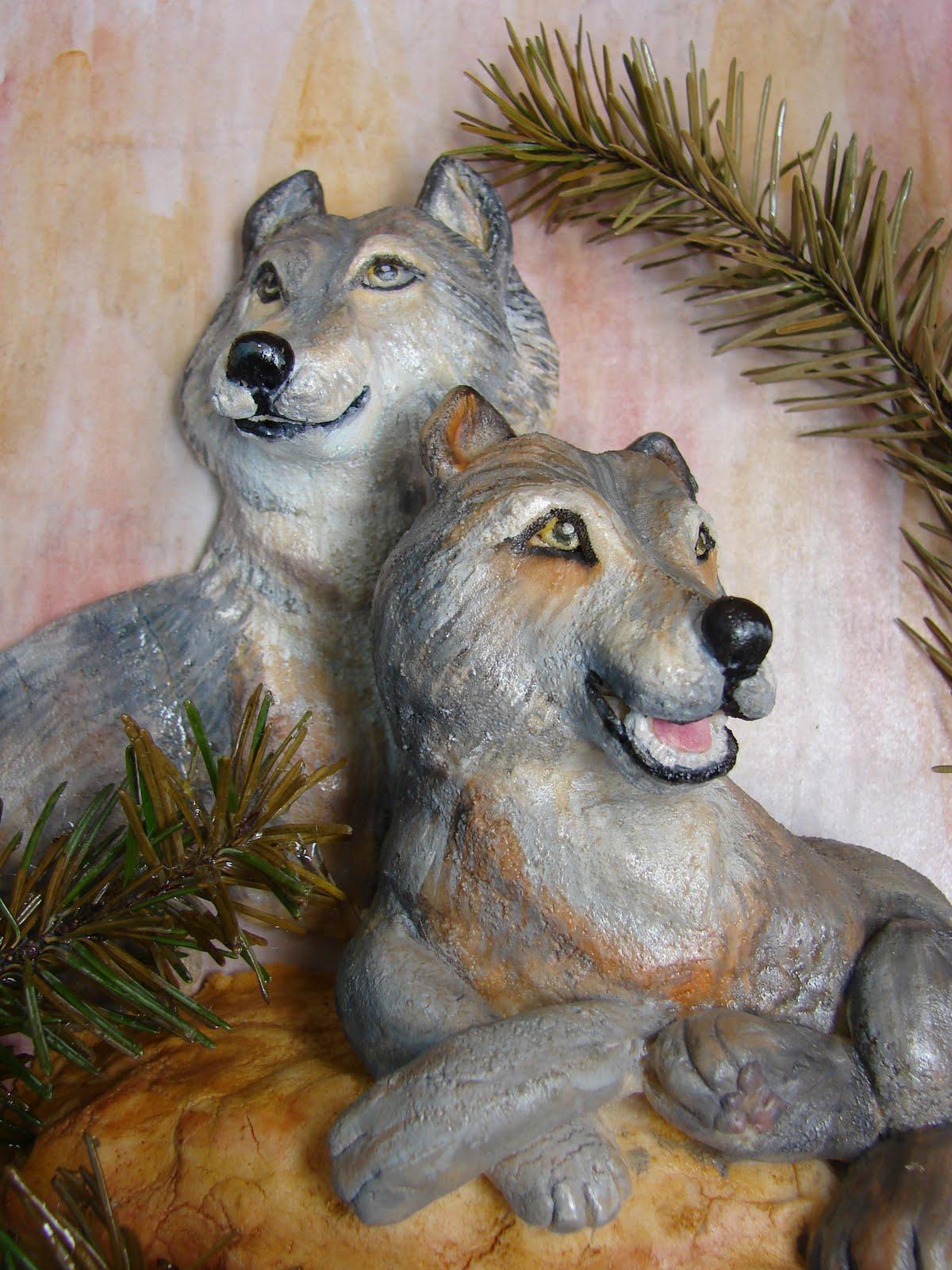 Волк из соленого теста пошаговая инструкция