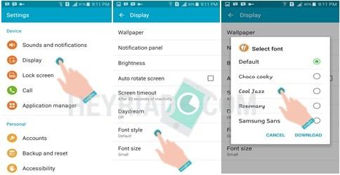 Cara Mengganti Font Gaya Huruf Android