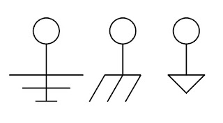 Electrical drawing symbols for ground
