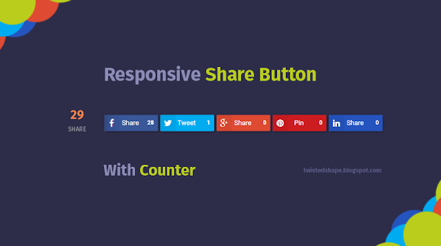 Memasang Responsive Share Button dengan Counter di Blog