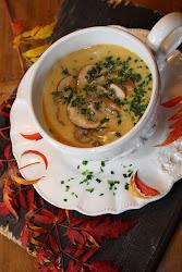 Champignon - Cremesuppe mit Ingwer & Sherry