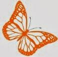 Orange butterfly logo c Heavenly Vintage Brides vintage wedding blog 2013