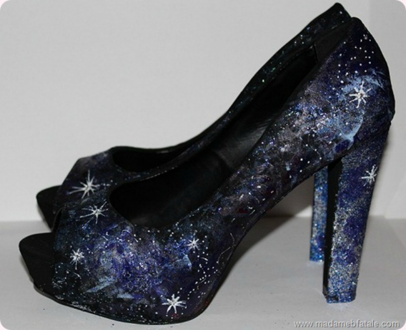 diy galaxy shoes tutorial