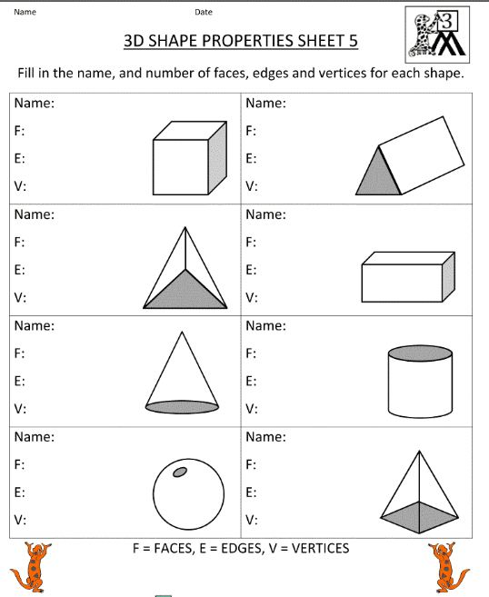 Printables Faces Edges And Vertices Worksheet faces edges and vertices worksheet abitlikethis mr howards esol math 3 22 7th amp of