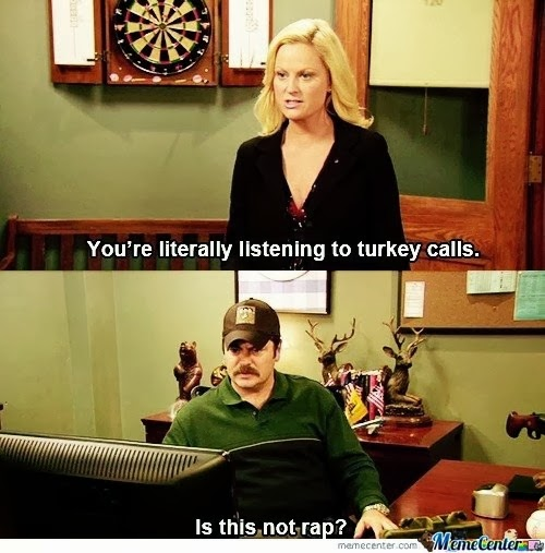 Funny Love Quotes Parks And Recreation : ... to+turkey+calls+is+not+rap+dr+heckle+funny+wtf+parks+and+rec+memes.jpg