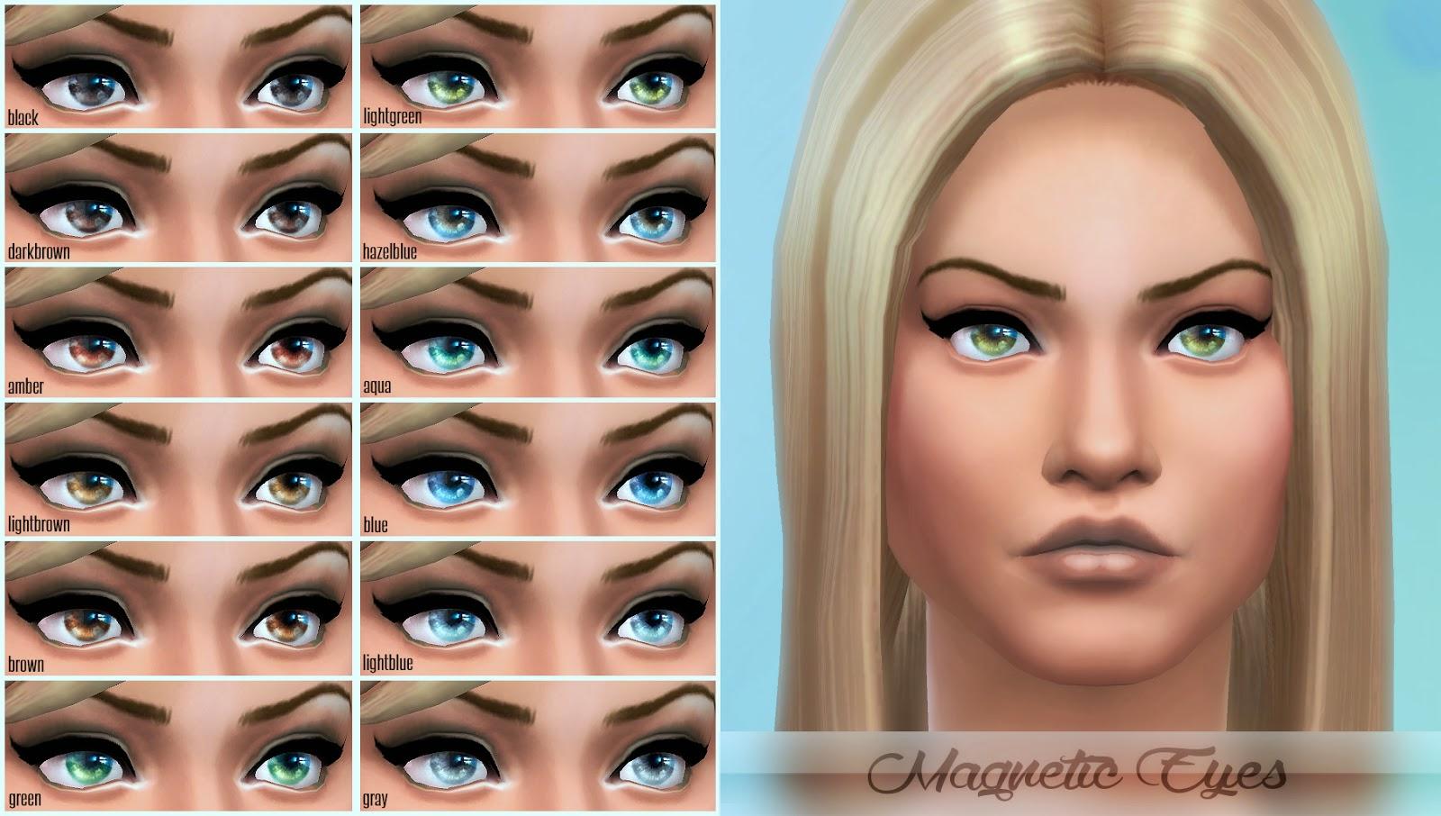 Sims 4 Custom Content Eyes