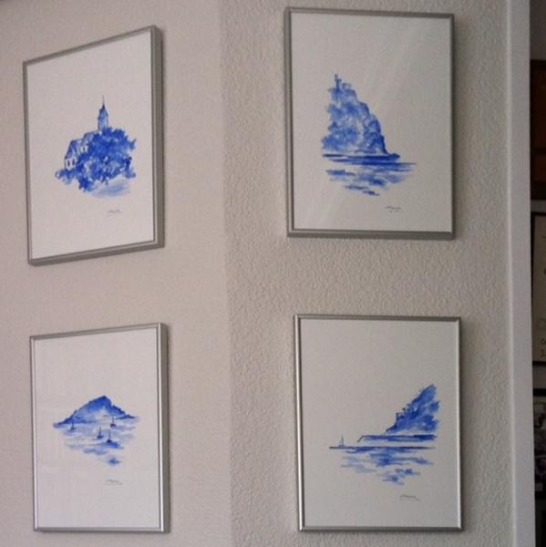 Láminas enmarcadas, del despacho de Jose Angel Cuerda