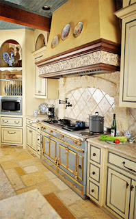 small french kitchen design and ideas  in yellow