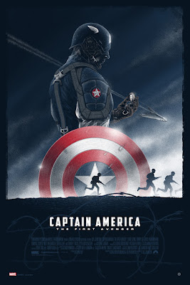 Captain America: The First Avenger Dyptich Screen Prints by Marko Manev – Captain America