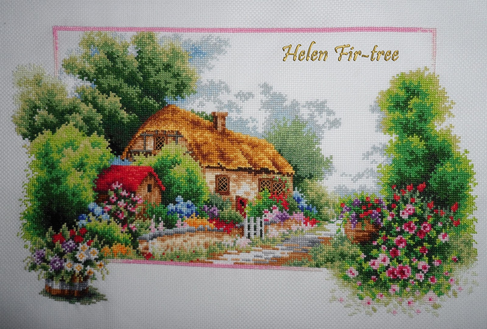 Helen Fir-tree вышивка времена года Весна counted cross stitch seasons spring