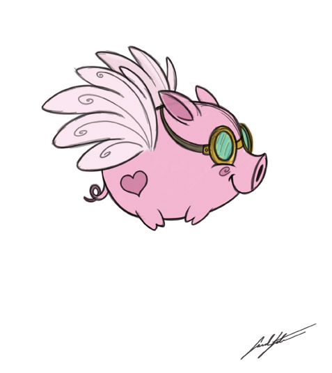 Sarah's Sketchbook: Fly Little Pig, FLY!