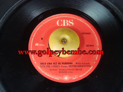 45 Rpm Los Del Caney - Side B