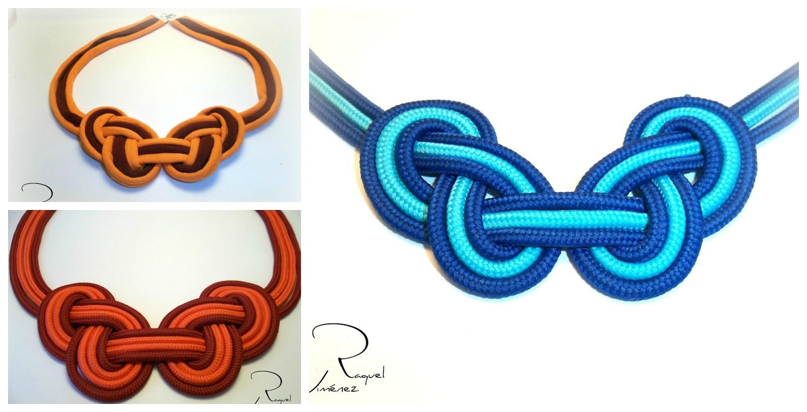Como hacer un collar con nudo bicolor en trapillo o con cord n raquel jim nez artesan a - Como hacer alfombras de nudos ...