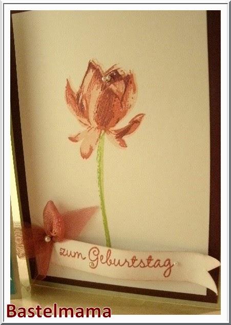Geburtstagskarten, Stamin Up,  Lotus Blossom