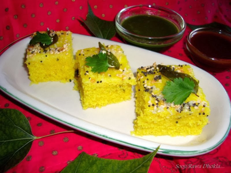 Rawa Dhokla Recipe / Sooji Dhokla Recipe