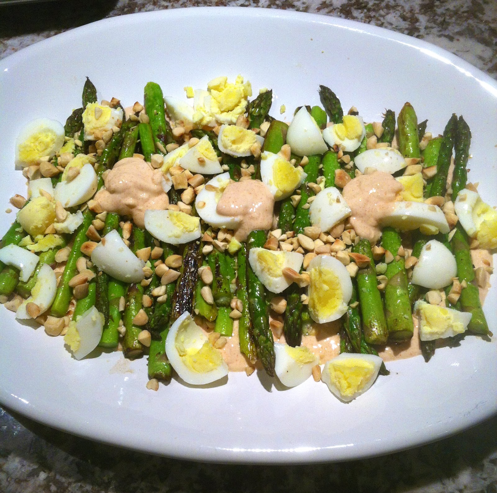 ... Asparagus with Smoky Lemon Yogurt, Chopped Eggs, and Toasted Almonds