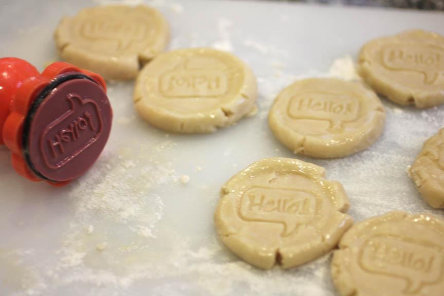 Hello Stamped Shortbread Cookies