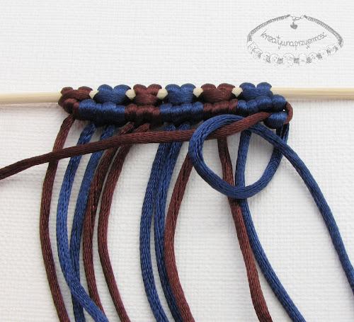 węzeł rypsowy - makrama - 17