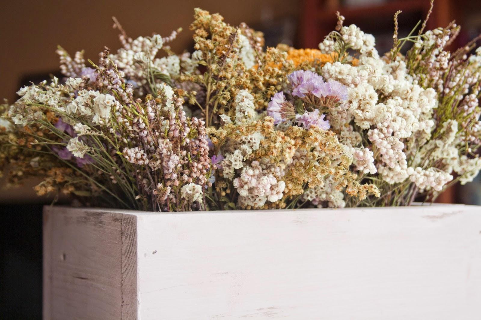 Decoración flores secas.