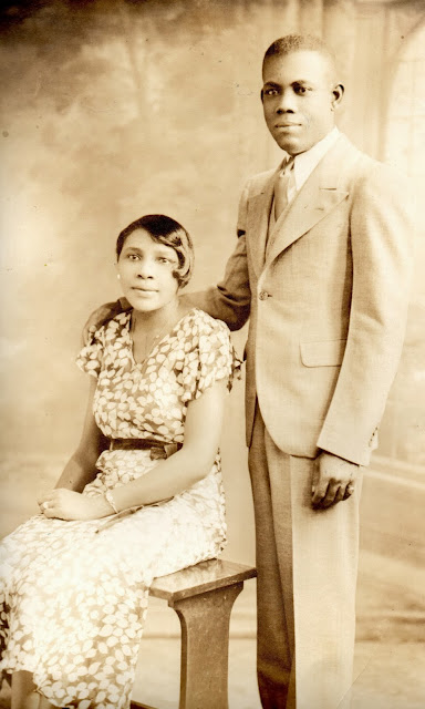 The Book Of Me:  Prompt 7 --Grandparents --Part One  Harold Murrell and Ethel Murrell, my paternal grandparents.