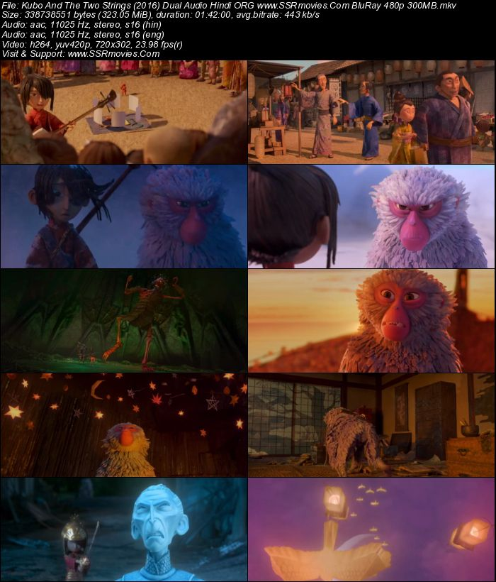 Kubo And The Two Strings (2016) Dual Audio Hindi ORG