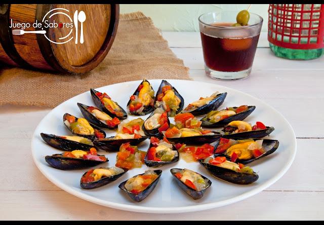 Juego de sabores mejillones a la vinagreta for Platillos rapidos y economicos