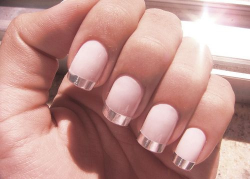 If You Want To Do A Cool French Manicure At Home Could Use Nice Tan Or White Nail Polish First Then Get Percise Line