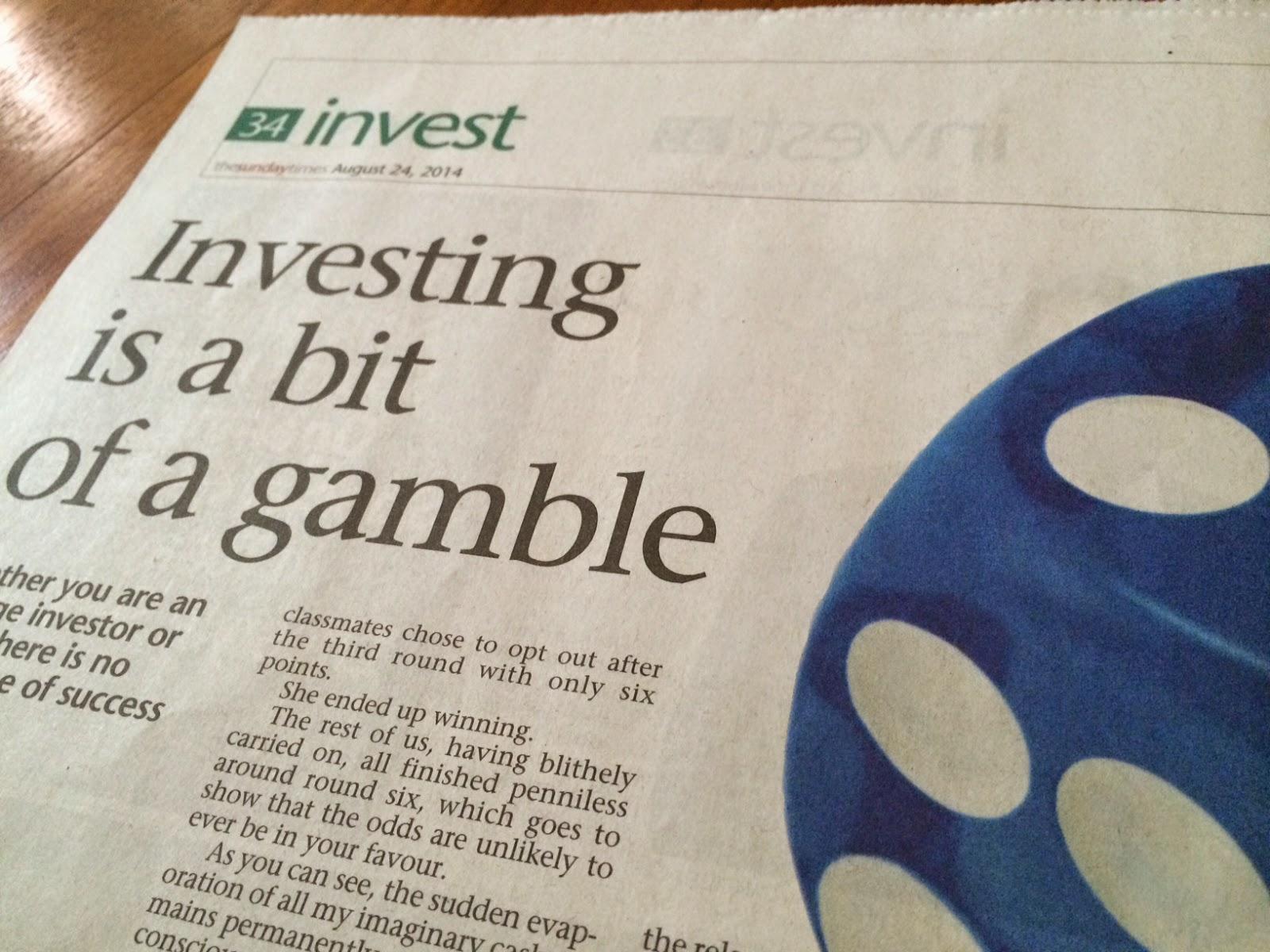 Investing = Gambling