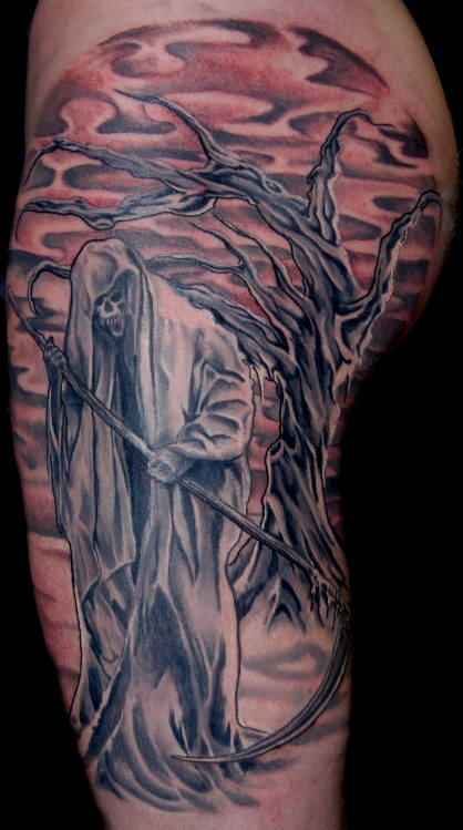 25+ Tattoo Designs: Grim Reaper Tattoos