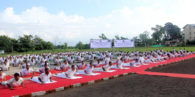 SSB Yoga at Teesta Stadium Ranidanga on the occasion of International Yoga Day 21st June 2015