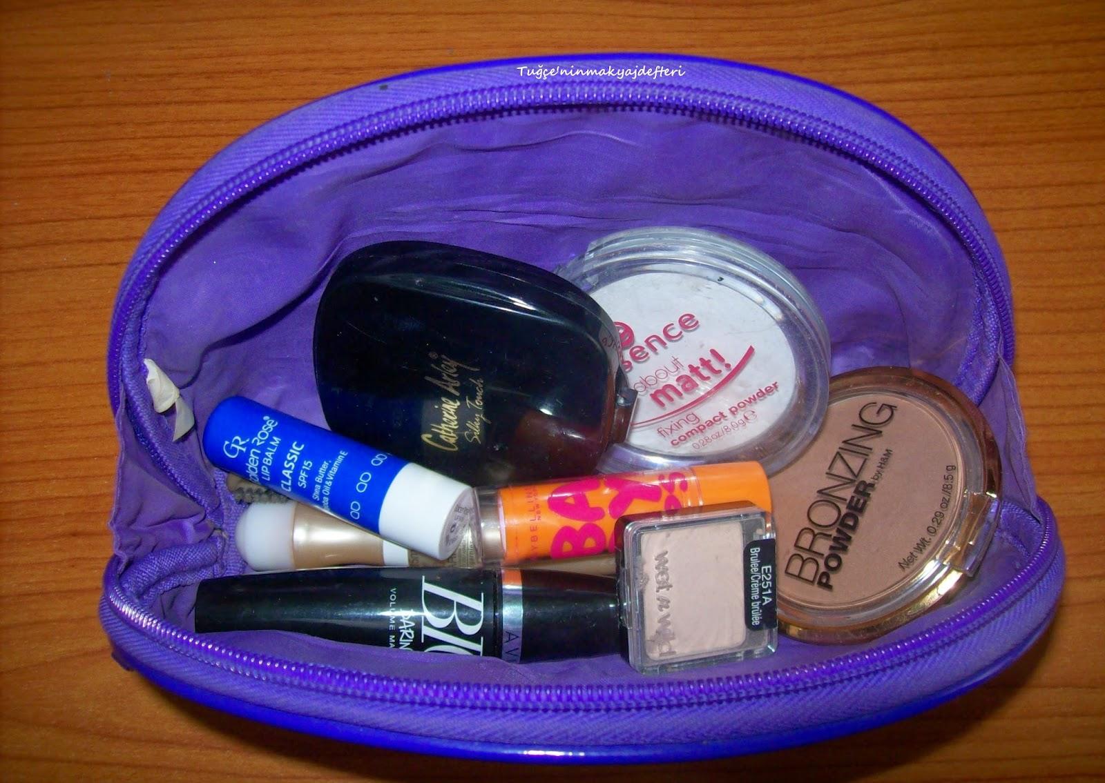 makyaj çantamda ne var