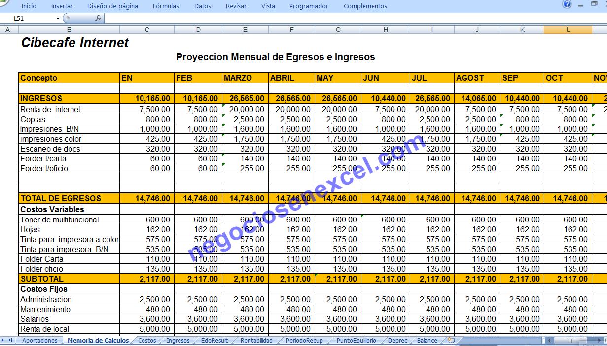 PlaNEx - Planes de Negocios en Excel: 2013