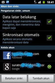setting+sinkr Cara Mengatasi HP Android Boros Pulsa