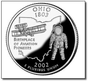 Ohio State Quarter With Astronaut