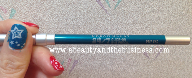 urban decay, urban decay 24/7, urban decay 24/7 eyeliner, urban decay deep end, urban decay 24/7 eyeliner deep end swatch, eyeliner review, summer eyeliner, color winged liner,