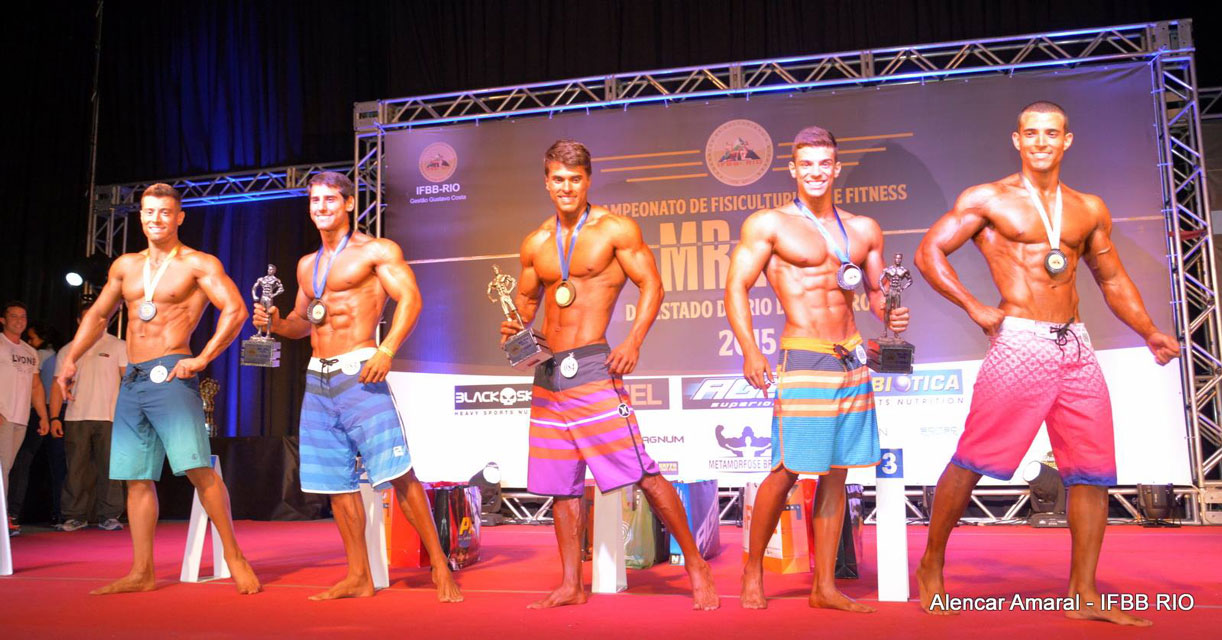 Ivo Toledo no top 5 da categoria Men's Physique até 1,74 m do Mr. Rio 2015. Foto: Alencar Amaral