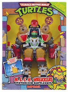 Playmates Teenage Mutant Ninja Turltles TMNT Classic Collection MECH Wreckers Raphael Figure
