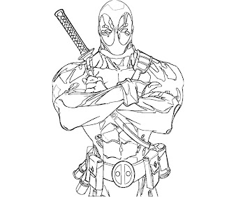 #3 Deadpool Coloring Page
