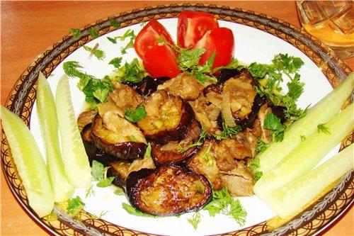 Баклажаны с луком рецепты