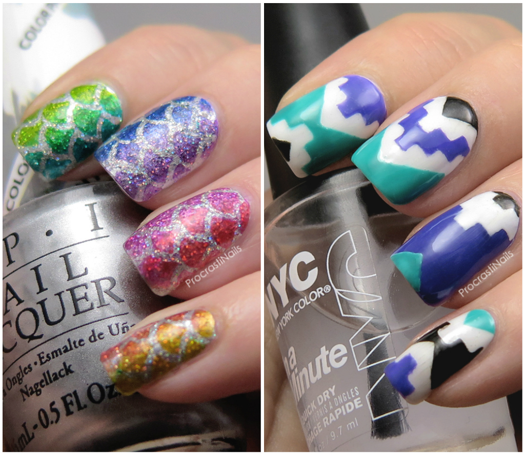 Review + Nail Art // Fish Scale and Aztec Glam My Mani Nail Vinyls - Review + Nail Art // Fish Scale And Aztec Glam My Mani Nail Vinyls