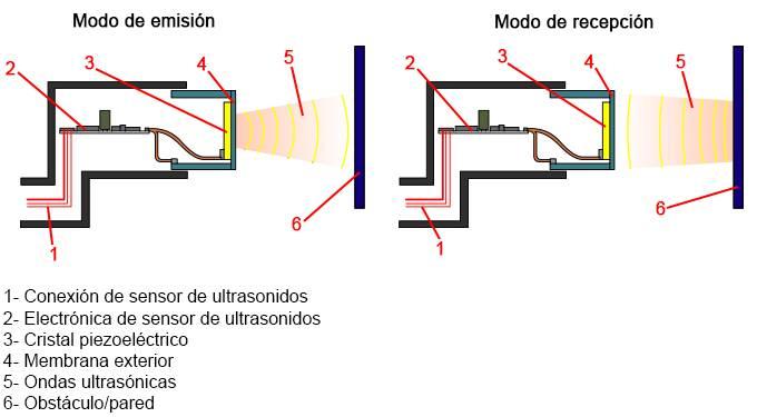 Constitución del sensor de ultrasonidos