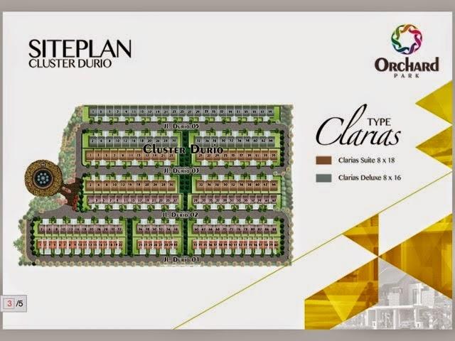 Siteplan Rumah Tipe Clarias Orchard Park Batam