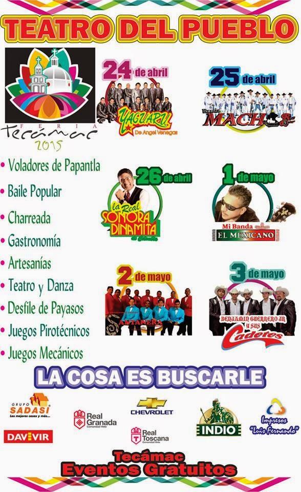 programa de feria Tecámac 2015